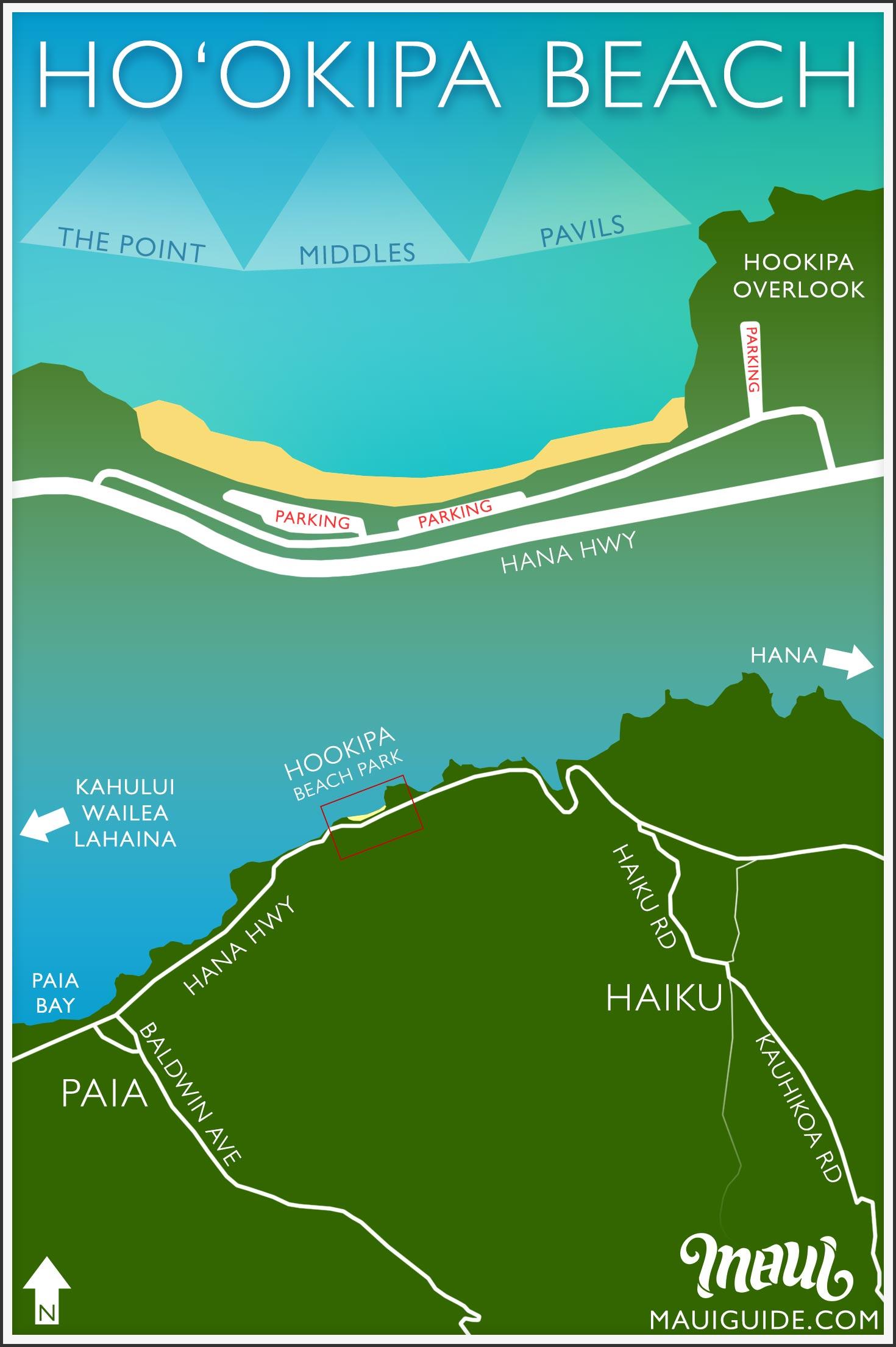 Hookipa Beach Park Map