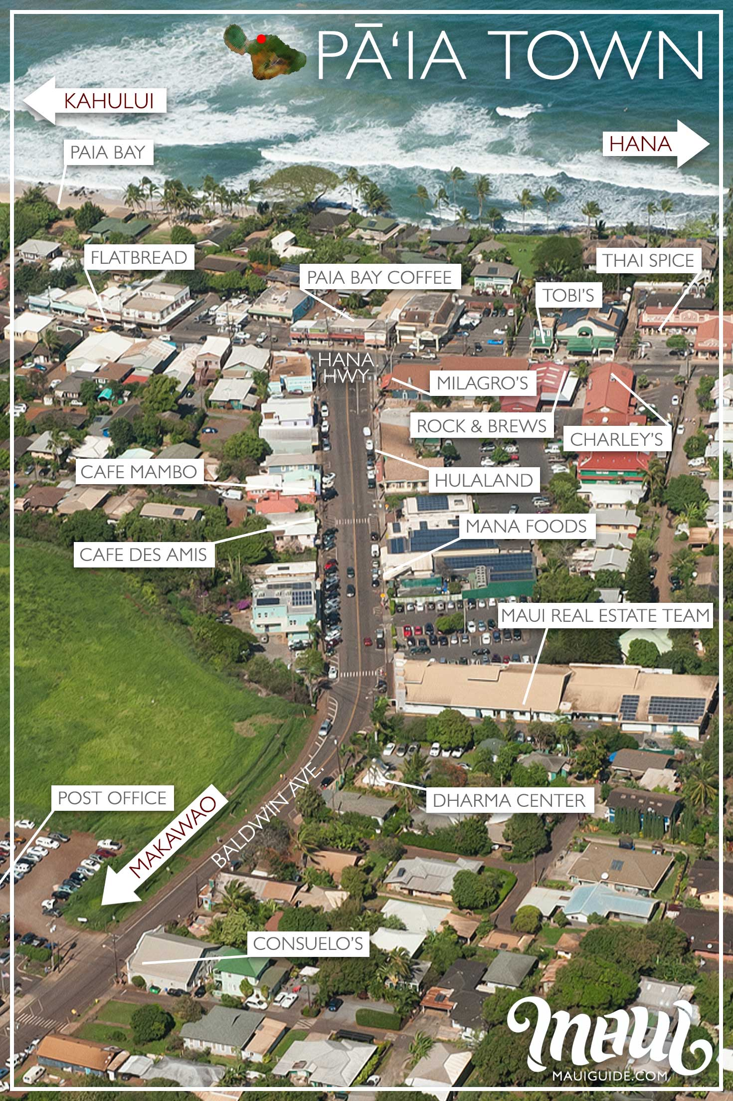 Paia Town Map