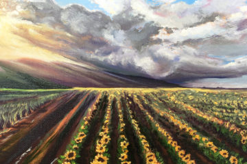 Sunflower Maui painting